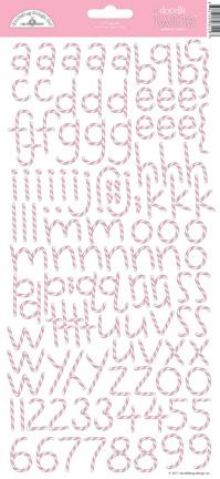 DoodleBug - cupcake doodle twine alphabet sticker