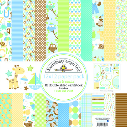 1 Metre Snips and Snails Alphabet by doodlebug designs for by Riley Blake C3542